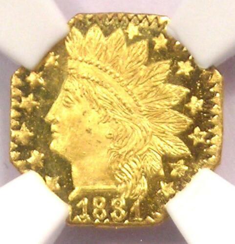 1881 Indian 25C California Gold Quarter Coin BG-799o - NGC MS67 DPL - Top Pop!