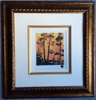 Numbered Tom or Tommy Thomson Print 'Pine Trees At Sunset'