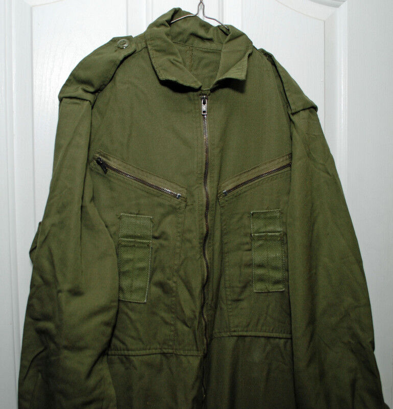 Canadian Army Tactical Zipper AFV Coveralls OD Green in 36