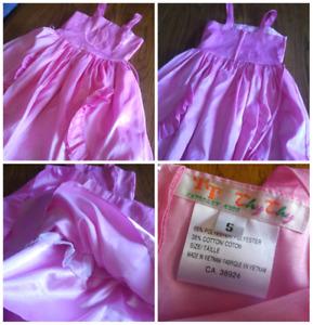 Robe bouquetière rose 5 ans