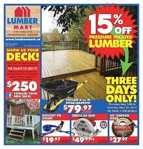 LumberMart Deals May 18-28, 2017