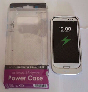 Samsung Galaxy S3 2000 mAh Extended Battery Case, White By Lenma