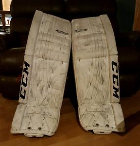 Great goalie gear- CCM pads, Pro chest & arms, Graf Pro skates