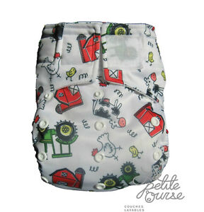 "Cloth Diaper "" La Petite Ourse"" FREE delivery for order over 75$"