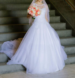 A beautiful wedding gown