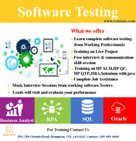 SOFTWARE TESTING/QA TRAINING WITH JOB ASSISTANCE| CALL2894994040