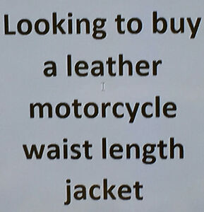 WANTED - Motorcycle jacket