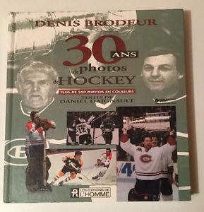 Livre de photos de hockey.
