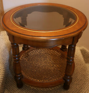 Wood, Glass Side Table