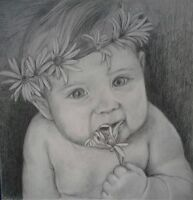 baby portrait drawing/painting