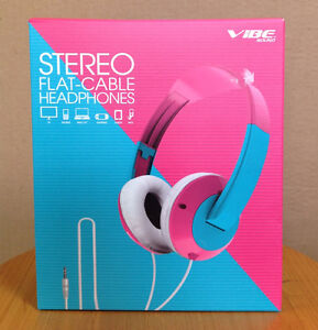 BRAND NEW stereo flat cable headphones vibe sound $15
