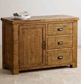 Oak Furniture Land Ripley Rough Sawn Solid Oak Sideboard drawers