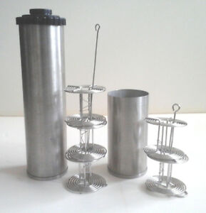 Stainless steel developing tanks