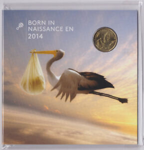 Born in 2014 Royal Canadian Mint Baby Uncirculated Coin Set