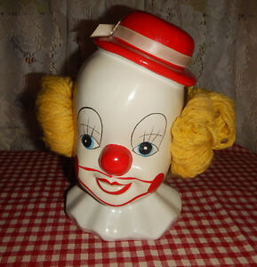 KITSCH! Tirelire banque Piggy bank Clown Vintage