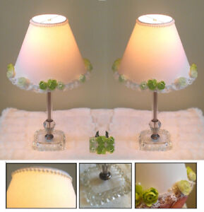 "Timeless! 2 Vintage Crystal Table Lamp, H17"" (TEXT/CALL Only)"