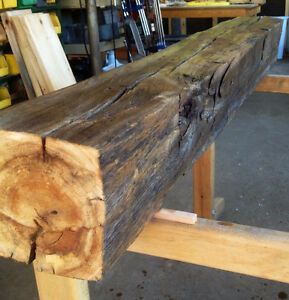Mantel Piece - Hand-hewn Barn Timber Kawartha Lakes Peterborough Area image 5