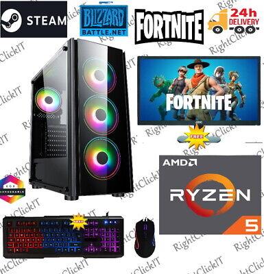 ULTRA FAST Gaming PC AMD Ryzen 5 3600 3.6GHz 4.2 Turbo 6-Core...