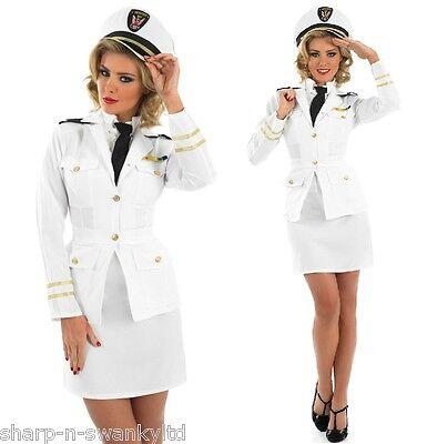 Damen 1940er Jahre Matrose Offizier Uniform Kostüm Kleid Outfit 8-26 Übergröße ()