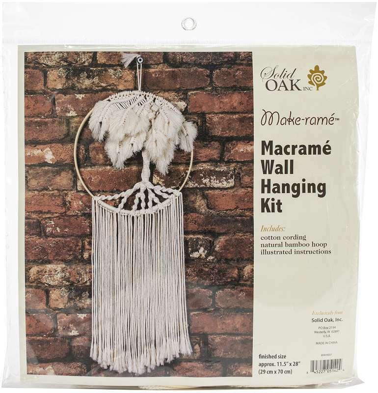 Macrame Wall Hanger Kit Palm Tree 845227051424