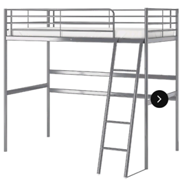 Ikea high sleeper bed and mattress. Delivery available extra cost