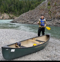 Lost canoe Bow Valley River Banff to Canmore