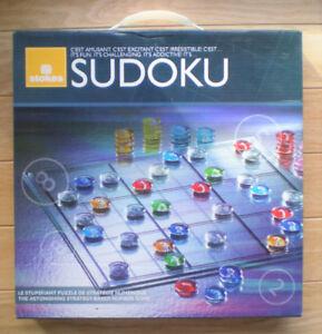 ❤ Nouveau jeu de plateau et de pièces en verre SUDOKU