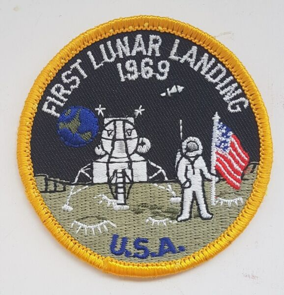 First Lunar Landing 1969, Neil Armstrong Moon-landing, Hobbyist memento patches, badges Collectibles