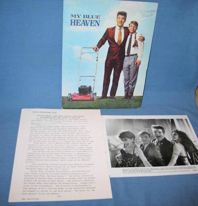 "Warner Bros ""My Blue Heaven"" Pressbook Production Notes & 4 Photos FREE SHIP"