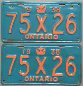 Vintage YOM License Plates - MTO Approval Guaranteed!