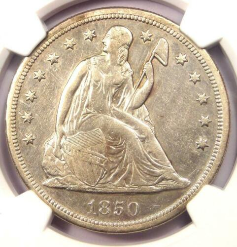 1850-O Seated Liberty Silver Dollar $1 - NGC AU Details - Rare Early Date Coin!