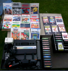 Atari 2600 + 20+Games and Inst. + Controllers ×4 Cords etc.