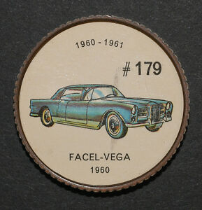 Jeton jello #179 / jello token / voiture / Facel-Vega 1960