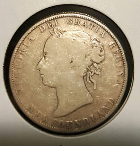 1900 NEWFOUNDLAND 50 CENT 117 YEARS OLD