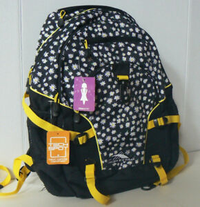 "High Sierra Daisies 19"" Backpack - Black/Sunburst"