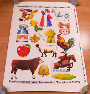 Vintage Royal Agricultural Winter Fair poster and print proofs Kingston Kingston Area image 3