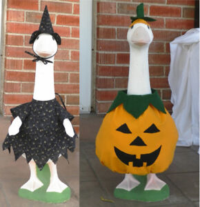 Lawn Goose Halloween Costume Pumpkin or Witch