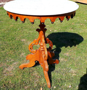 Antique Round Marble Table- Over 100 Years Old