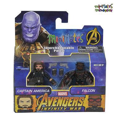 Marvel Minimates Toys R Us Avengers Infinity War Movie Captain America & Falcon