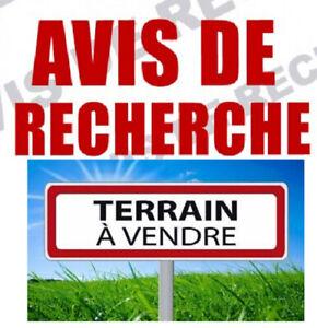 RECHERCHE: Terrain Résidentiel ou Commercial à vendre pour PLEX