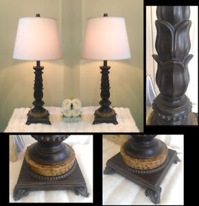 Quality 2 Heavier Marble Base Ashley Lamps 3 Way Light H30