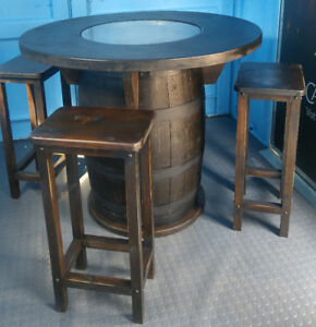 Whisky Barrel Table SAVE $300