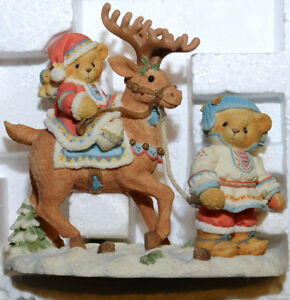 Collectible 1997 Enesco Cherished Teddies Sven and Liv Christmas
