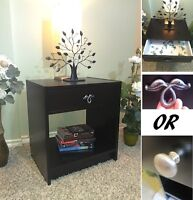 Beautifully Refinished! Black Night Stand / End Table