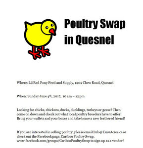 Poultry Swap at Lil Red Pony