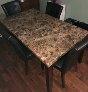Dining room table set with 4 chairs