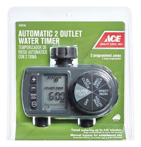 Automatic 2 Outlet Water Timer - Orbit -New sealed package