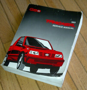 1993 Geo/Chev Tracker Factory repair manual, Excellent!