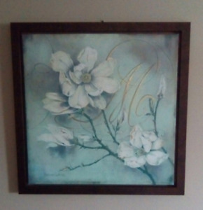 Wall Art - 3ft x 3ft - mounted canvas in a frame - Kathryn White