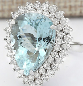 100% natural aquamarine 925 stamped sterling silver ring. Size 7
